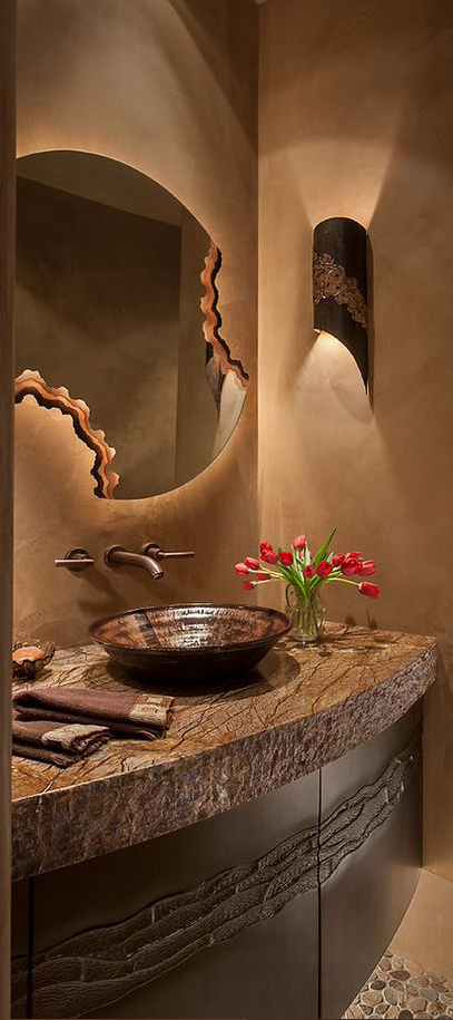 Western Powder Room | Southwestern Decorating Ideas
