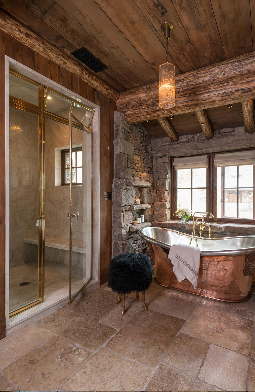 Log Home Bathroom Ideas | Pearson Design Group