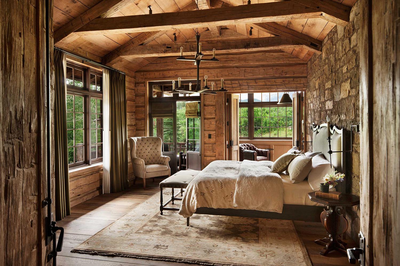 Log Home Bedroom Ideas | Pearson Design Group