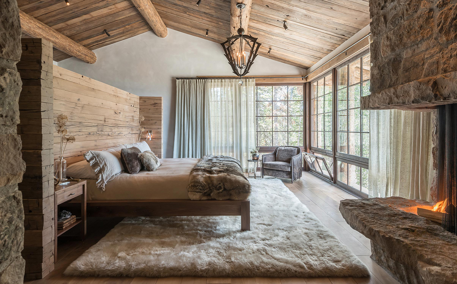 Log Home Bedroom Design Ideas | Pearson Design Group