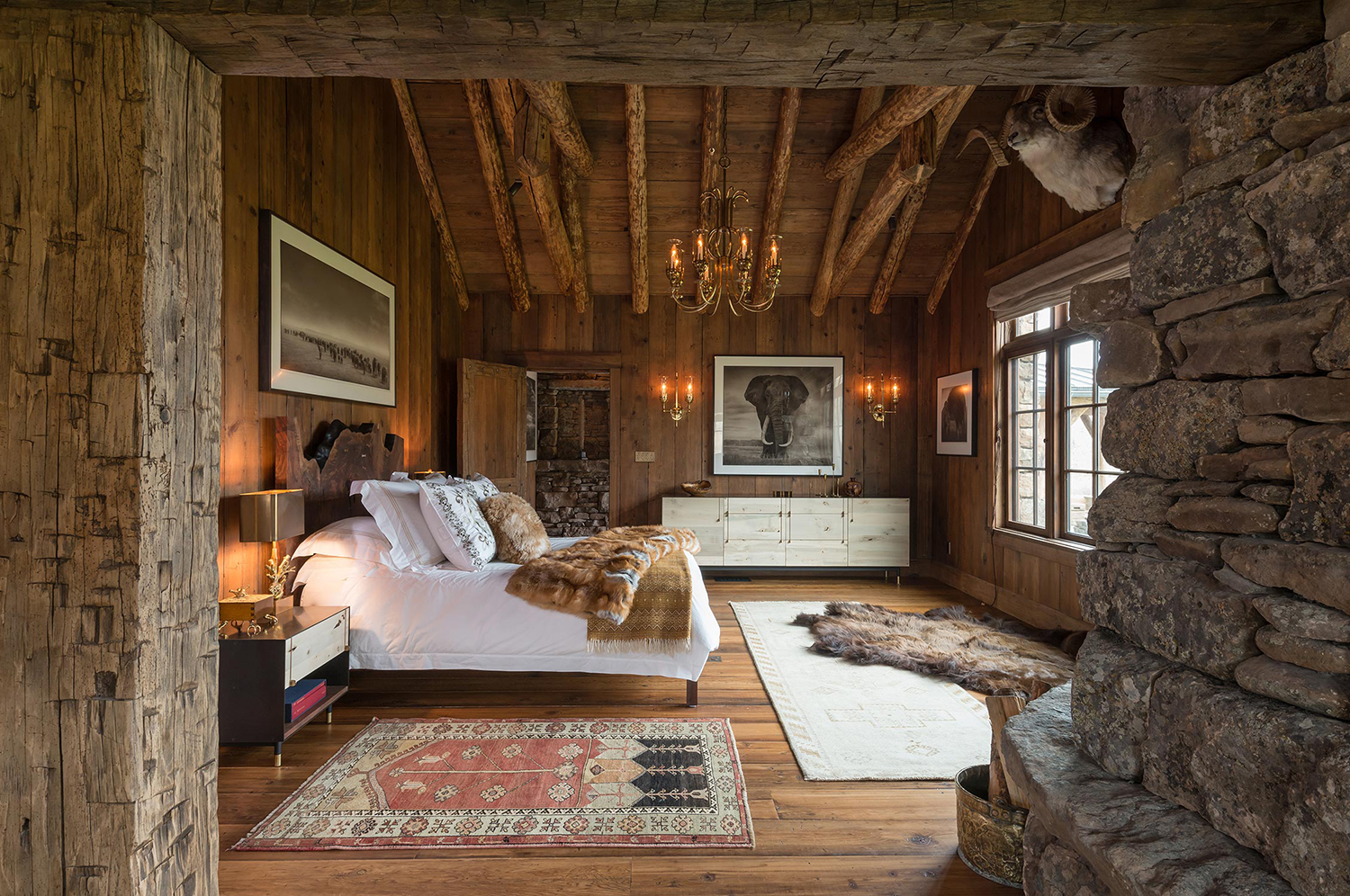 Log Home Bedroom Ideas | Pearson Design Group