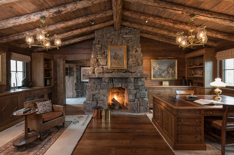 Log Home Office Ideas | Pearson Design Group