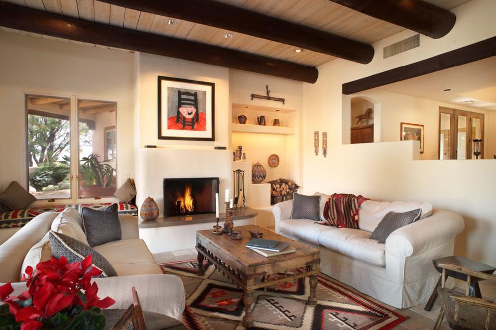 Southwestern Living Room by Eren Design & Remodel   Southwestern Decorating Ideas
