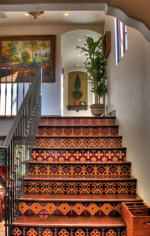 Spanish Colonial Revival Southwestern Staircase