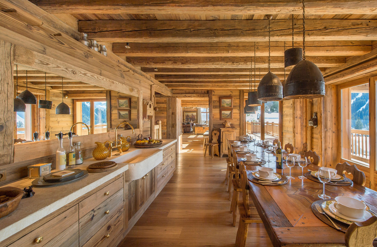 Rustic Kitchen & Dining Room