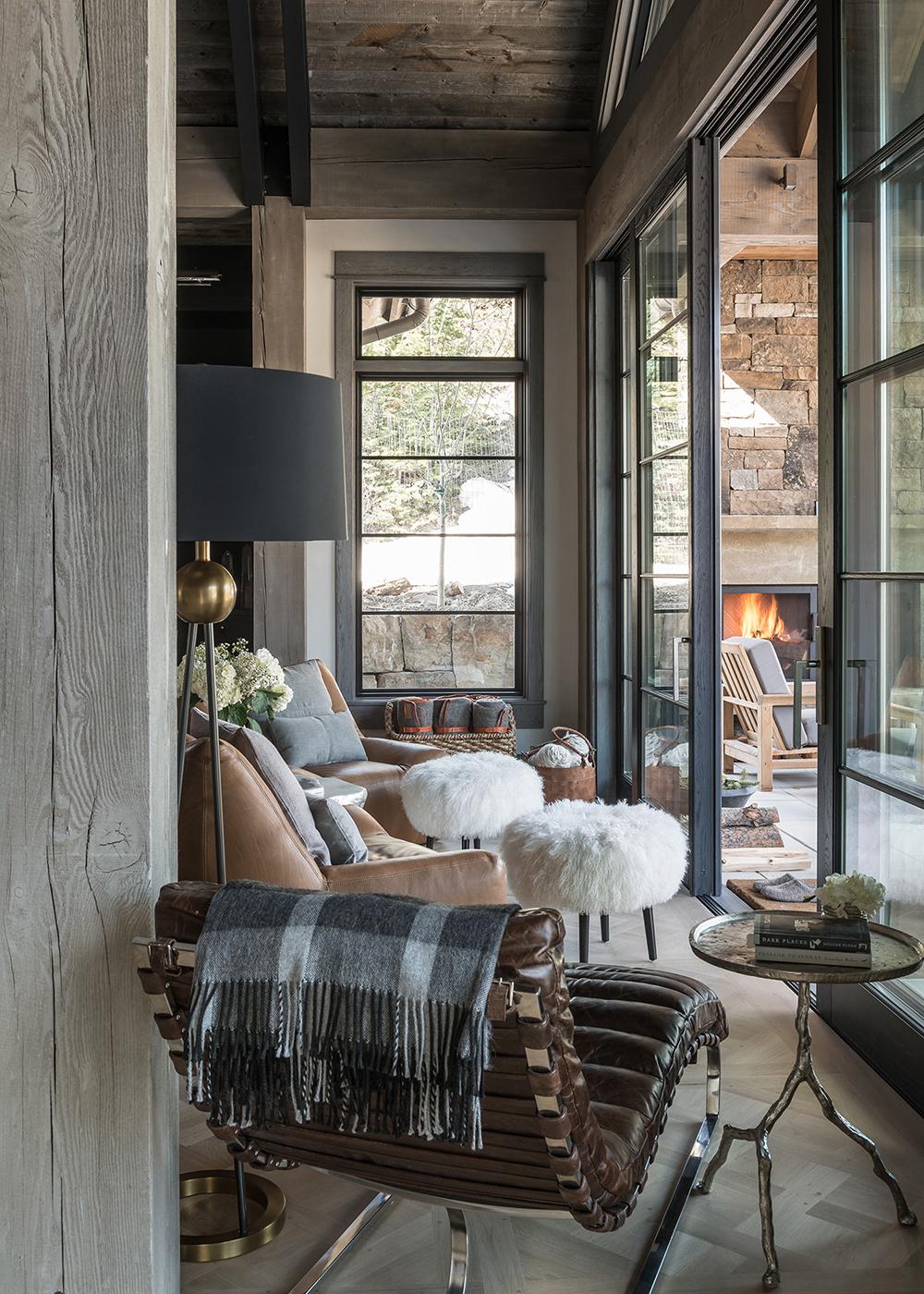 Locati Architects Rustic Seating Area