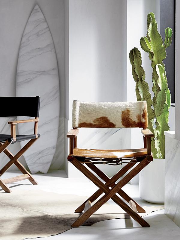 Rustic Curator Cowhide Chair