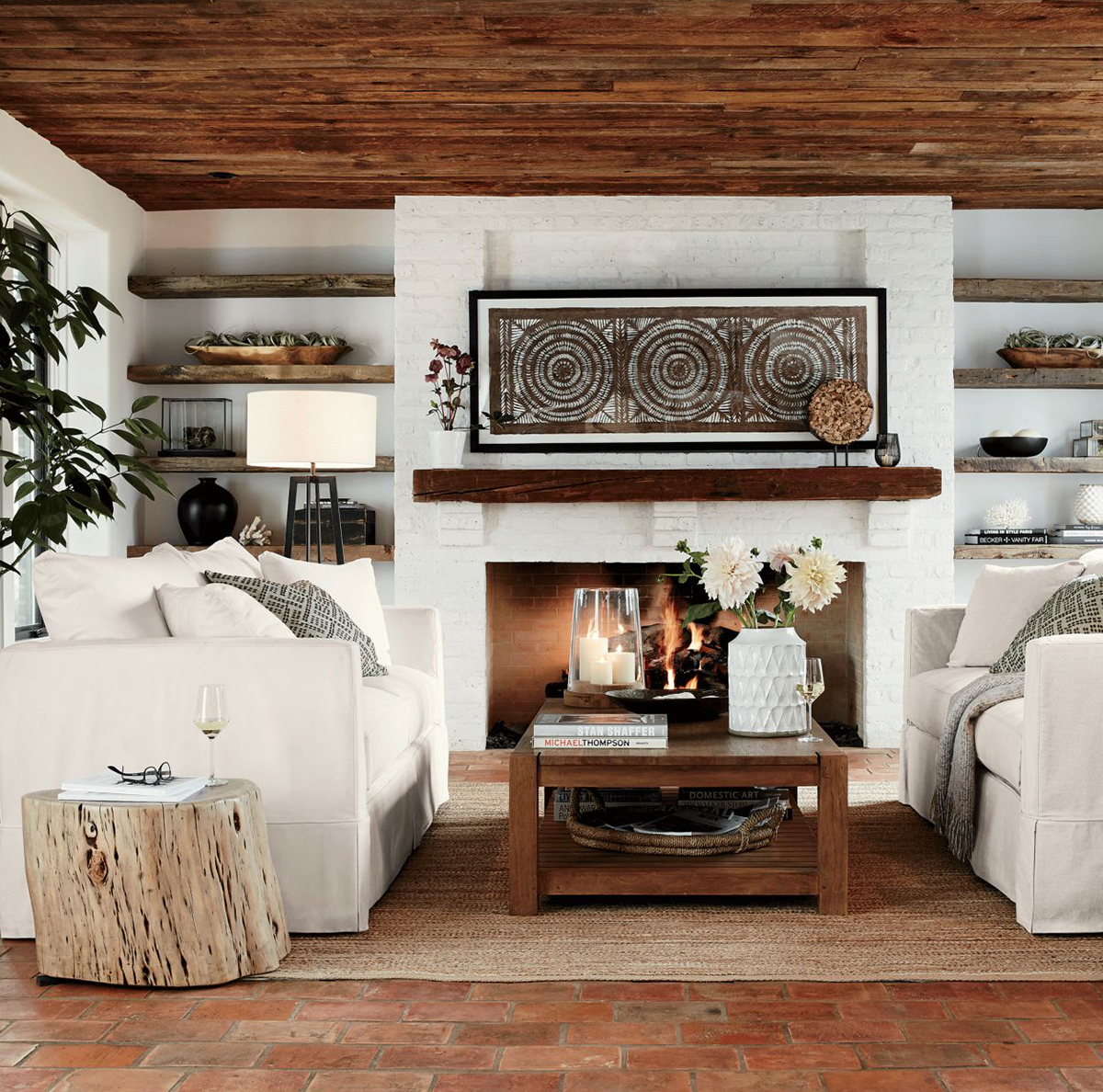 Rustic Decorating Ideas | Organic Living Room