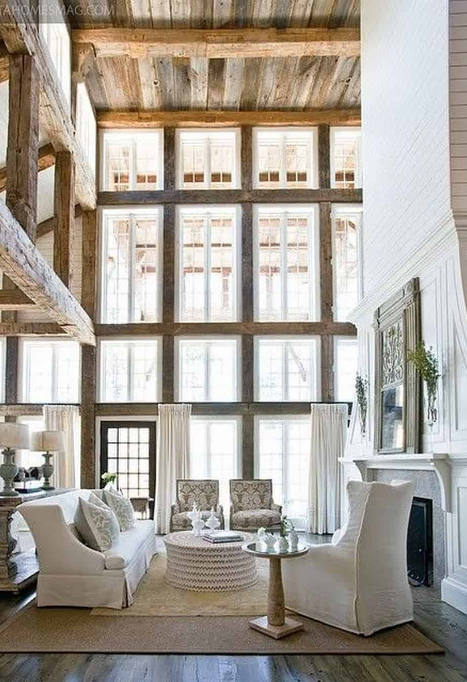What is Rustic Style Design   Rough Hewn Beams