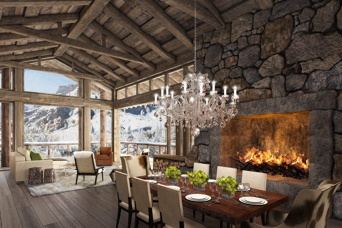 Rustic Dining Room | Marc-Michaels Interior Design