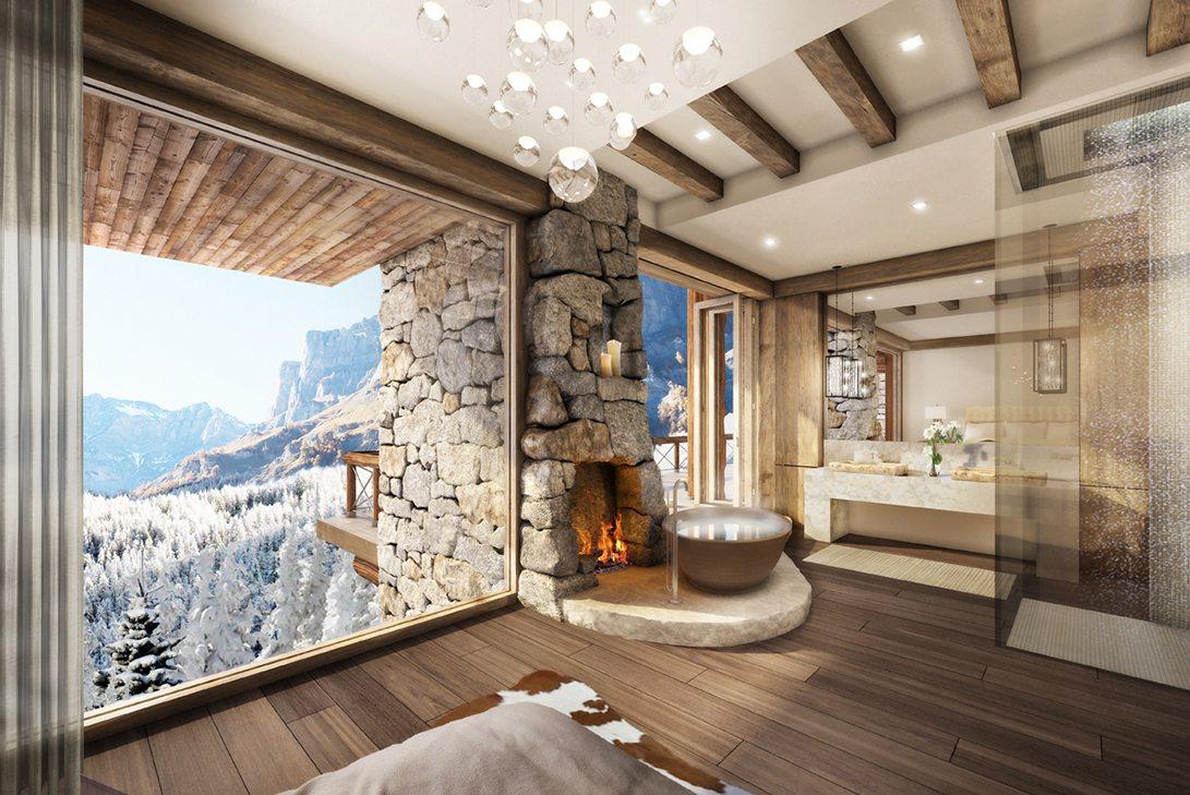 Rustic Bathroom | Marc-Michaels Interior Design