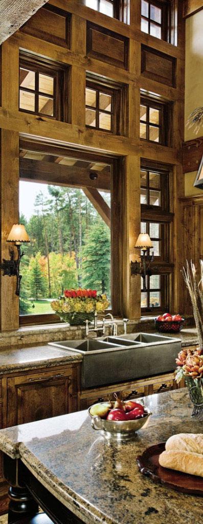 Rustic Kitchen Design by Locati Architects