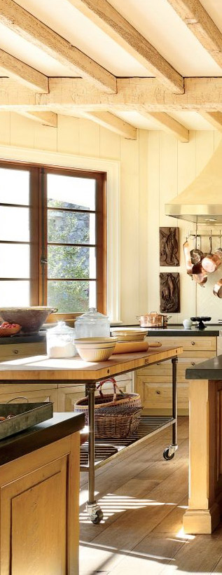 Rustic Kitchen by Suzanne Kasler Interiors