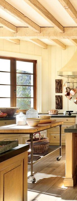 Rustic Kitchen by Suzanne Kasler Interiors