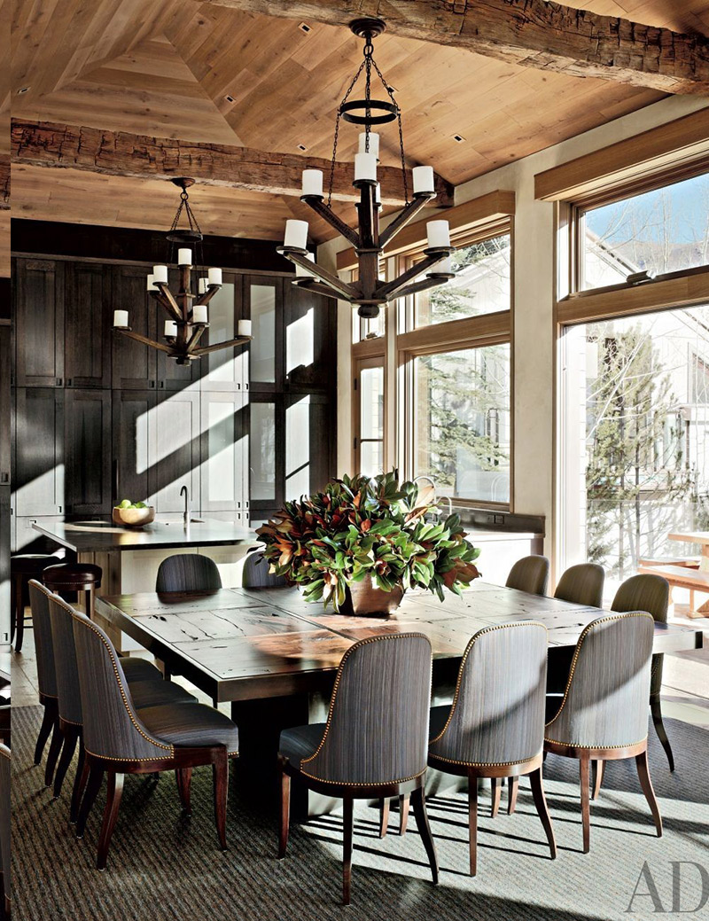 Rustic Dining Room by Stephen Sills Associates