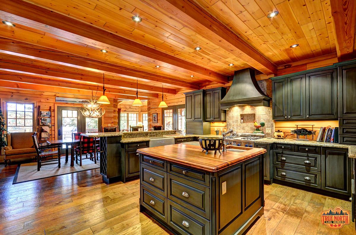 True North Log Homes   Rustic Kitchens