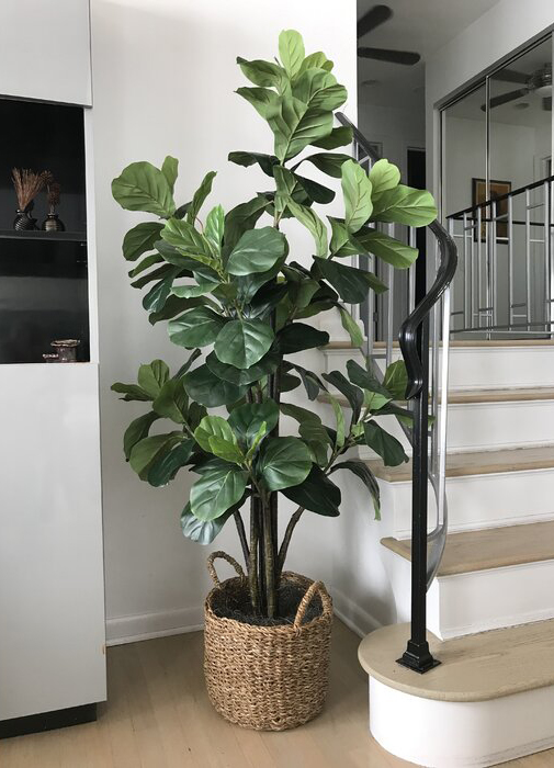 Faux Fiddle Leaf Tree with Basket