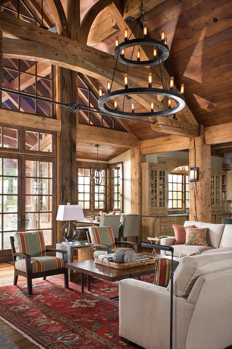 Log Home Great Room | Locati Design