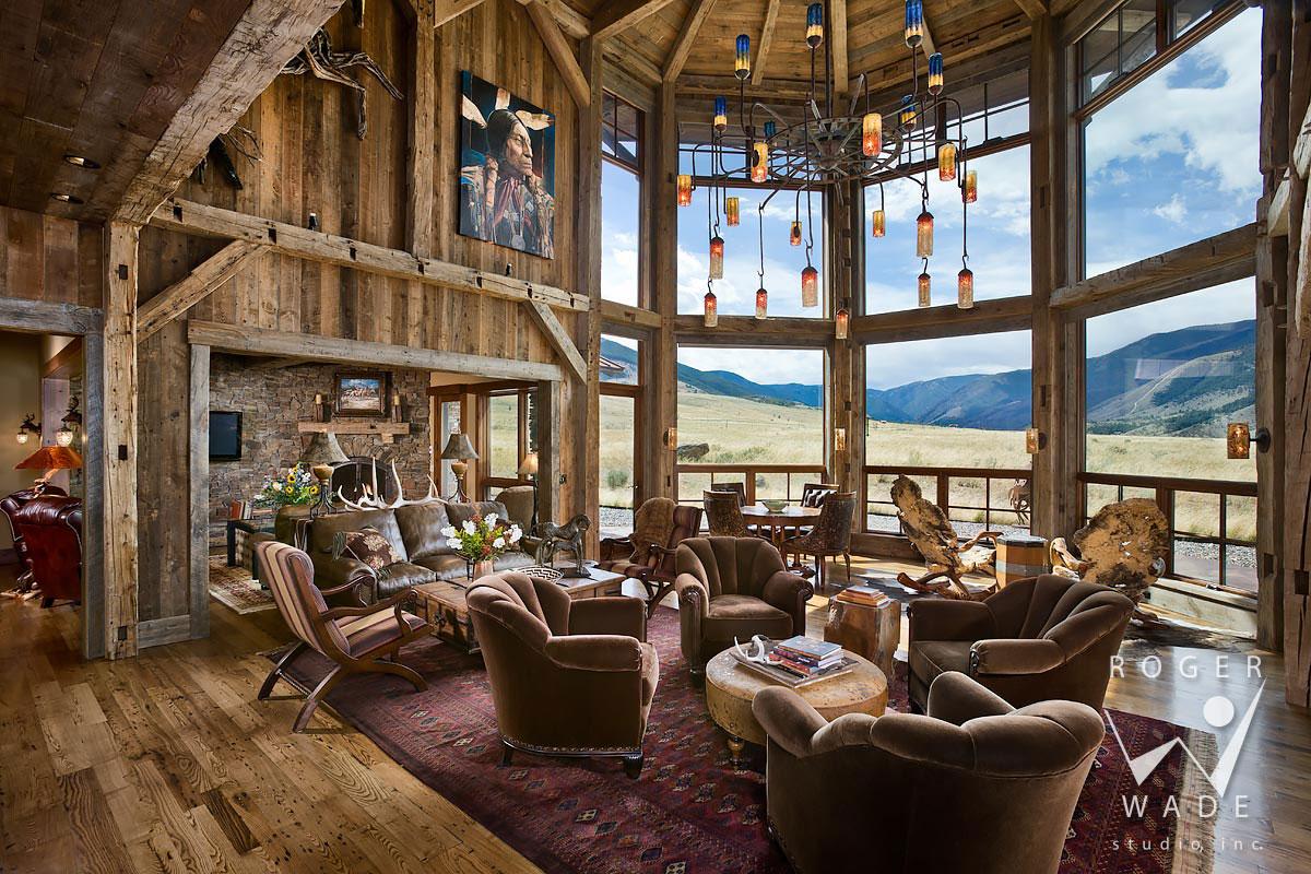Log Home Great Room Ideas