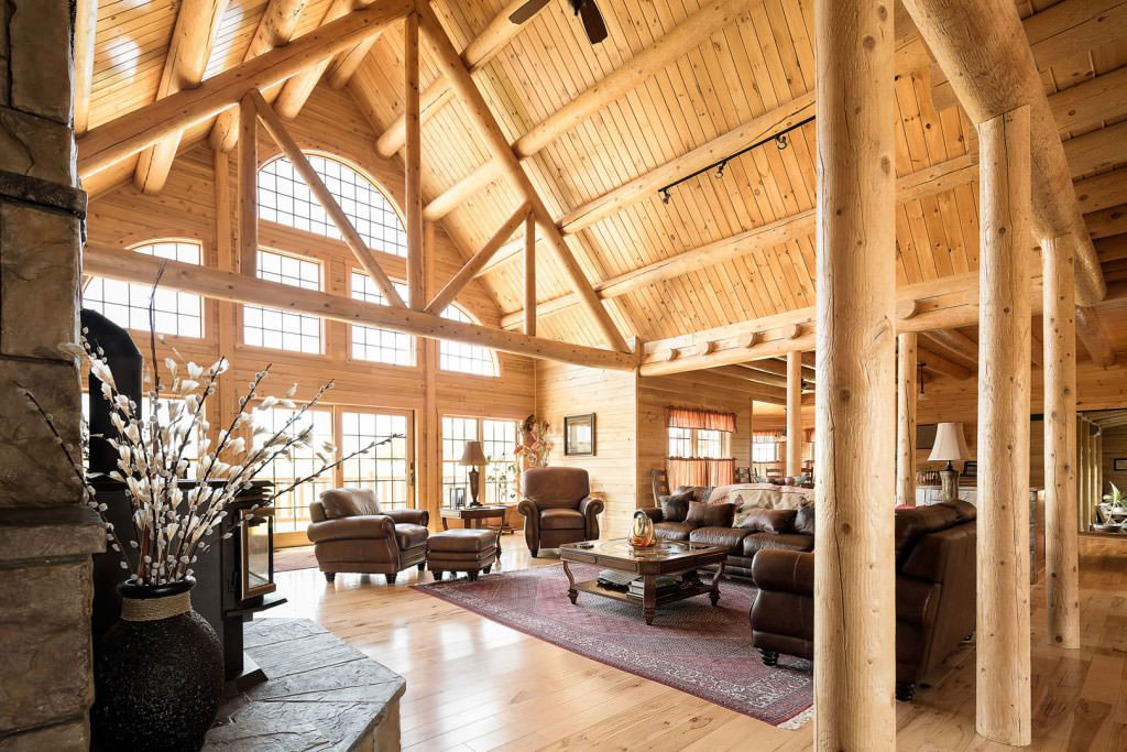 Log Home Living Room Ideas
