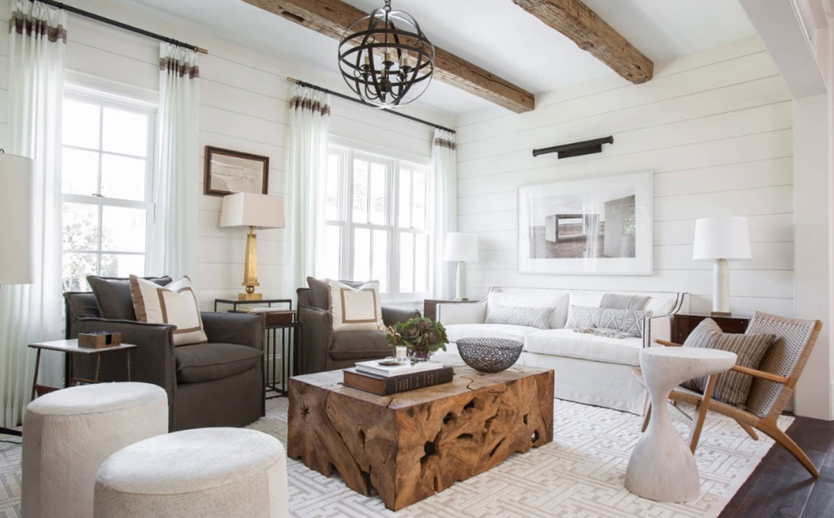 Modern Rustic Living Room by Marie Flanigan