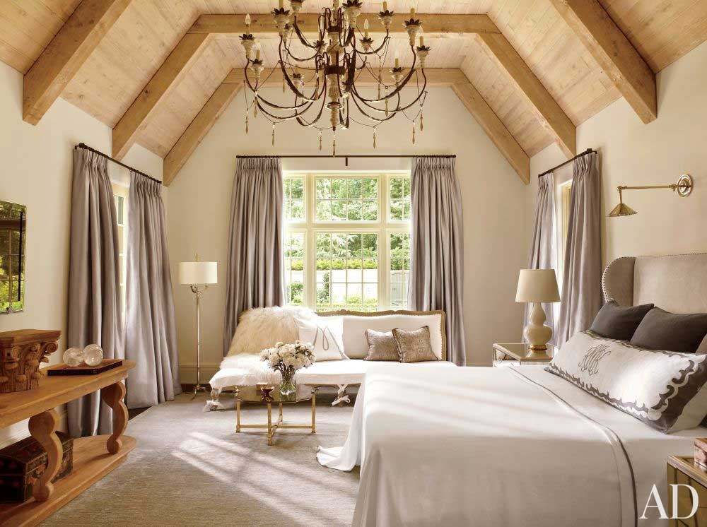 Suzanne Kasler Interior Design | Rustic Chic Bedroom
