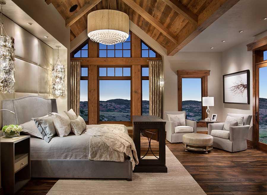 Rustic Lodge Bedroom | Locati Architects