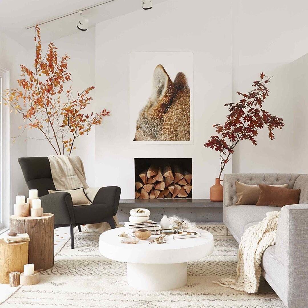 Scandinavian Interior | Rustic Fall Decorating Ideas