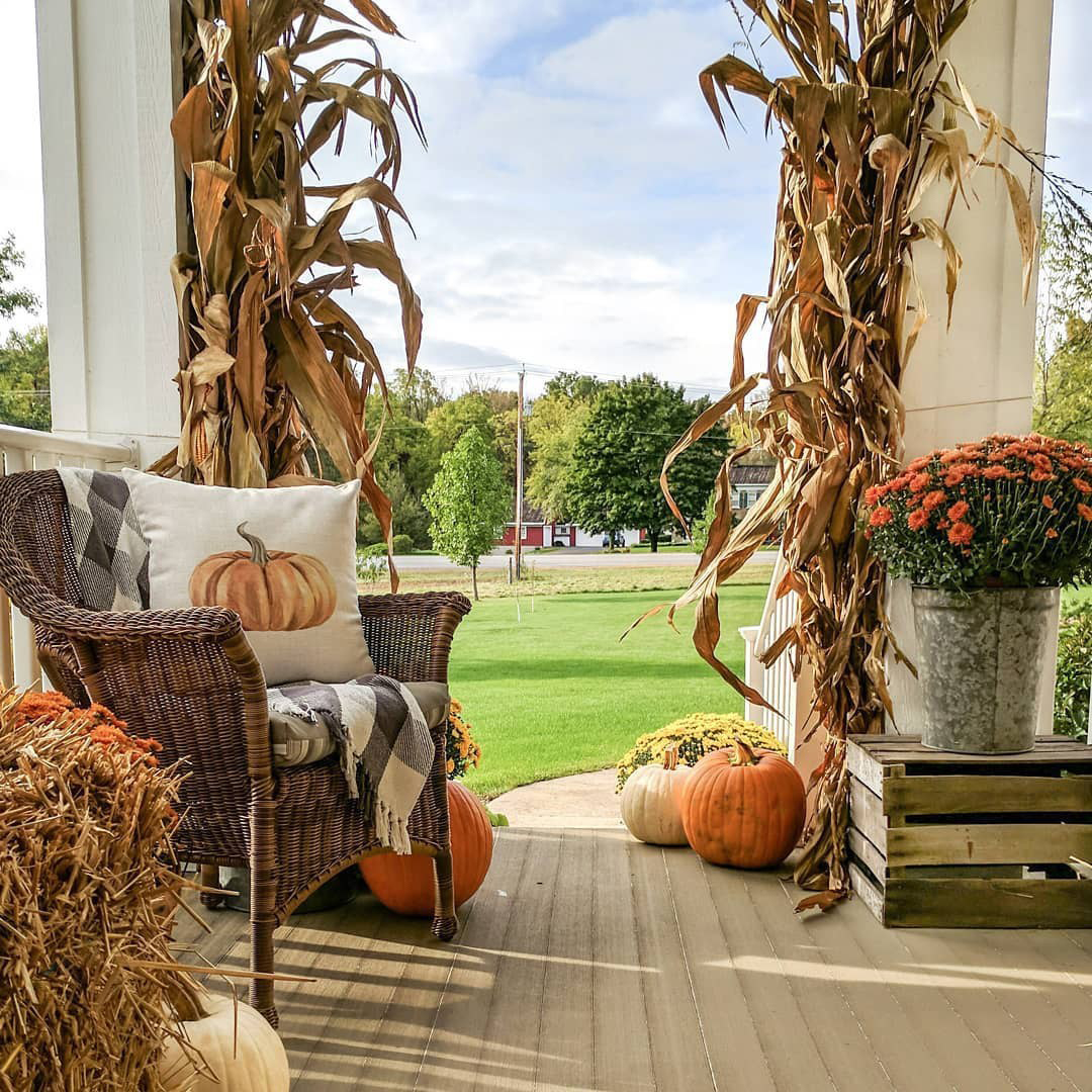 Rustic Fall Outdoor Decorating Ideas