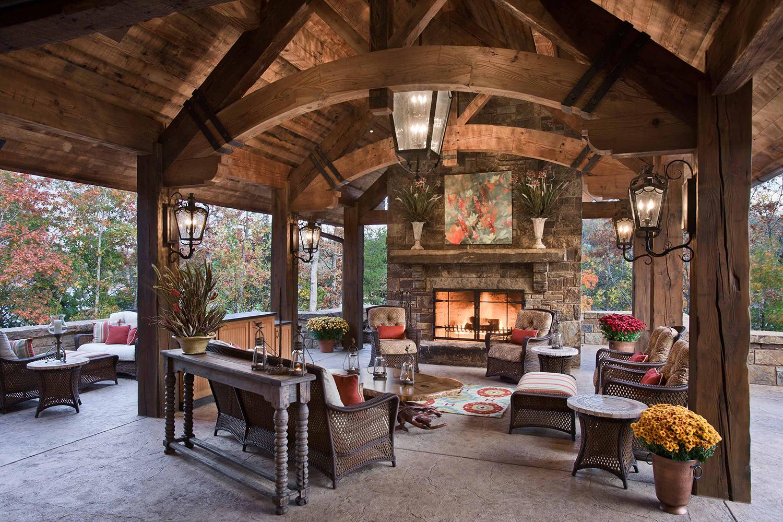 Rustic Homes Outdoor Areas   Locati Design