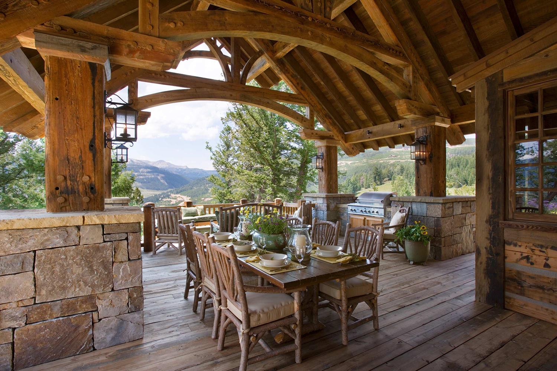 Rustic Outdoor Dining Areas   Locati Design