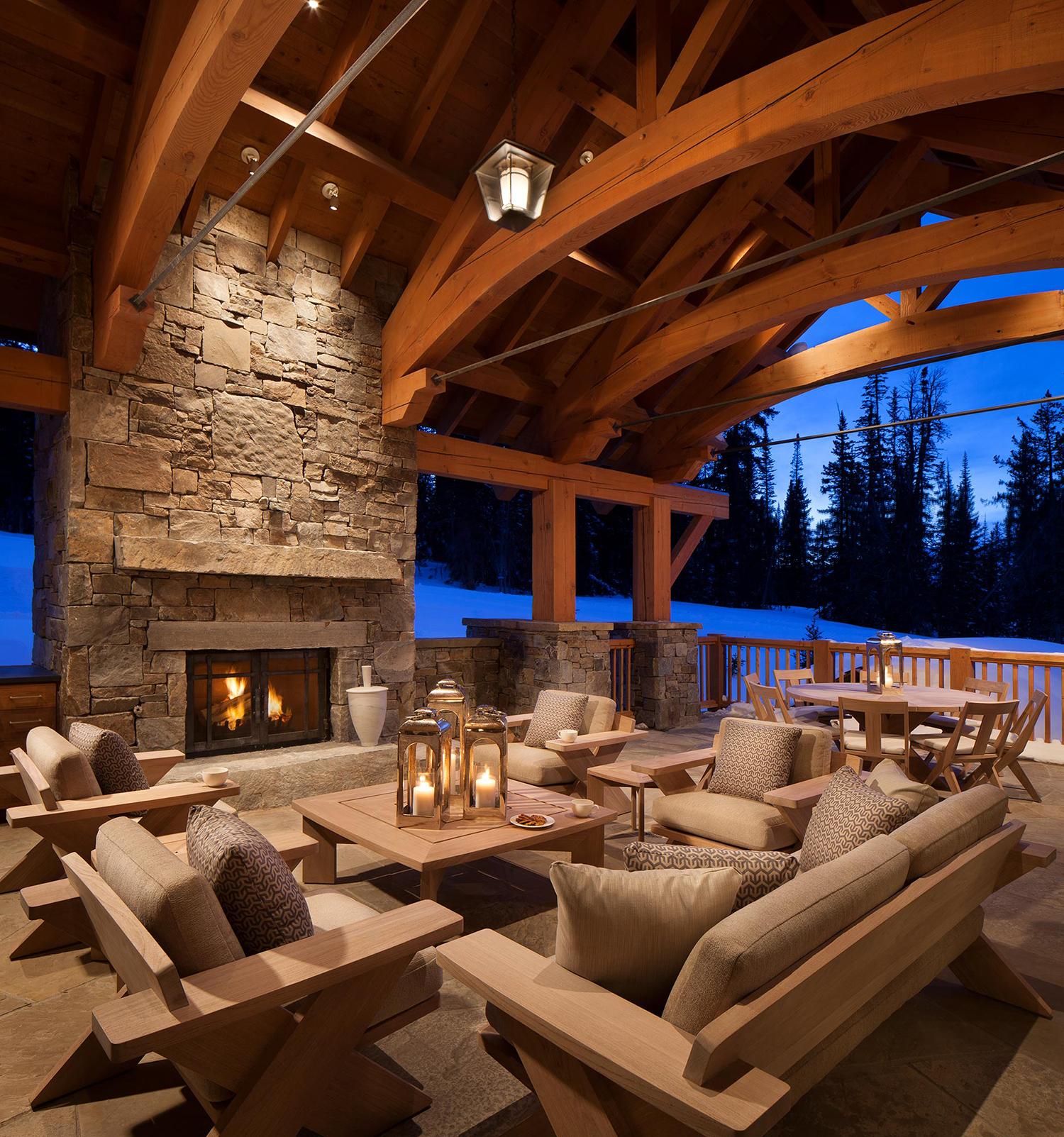 Rustic Outdoor Seating Areas   Locati Design