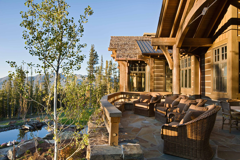 Log Home Outdoor Ideas   Locati Architects