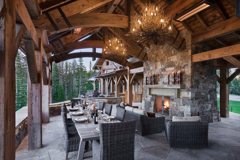 Rustic Outdoor Dining Area   Locati Design