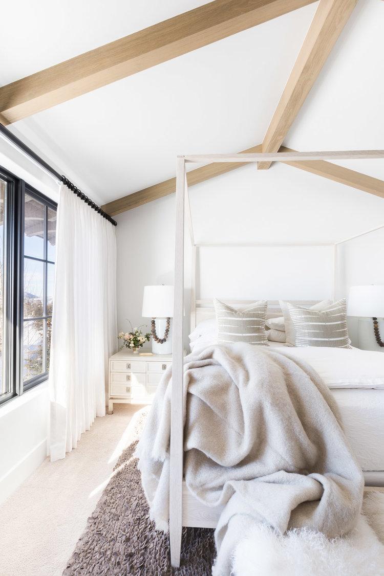 Modern Mountain Home Bedroom