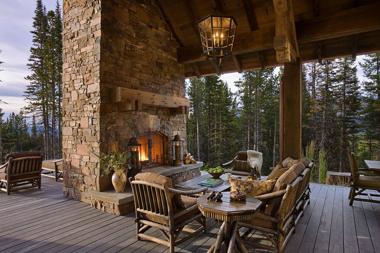 Rustic Homes Outdoor Fireplace Ideas | Locati Design