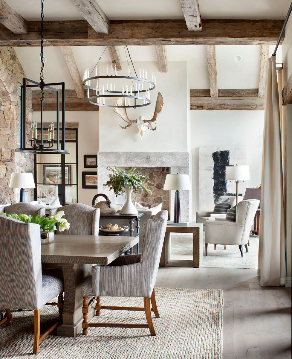 Contemporary Rustic Living Room   Gibeon Photography