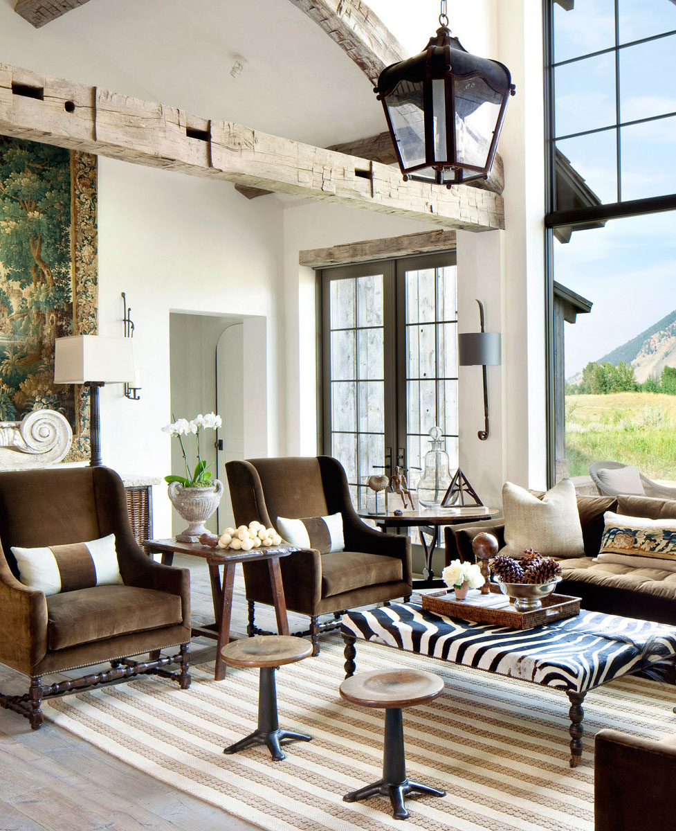 Rustic Eclectic Living Room   Gibeon Photography