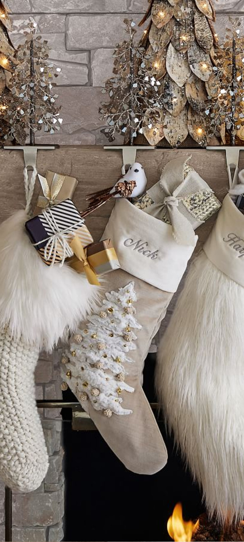 Alpine Luxe Christmas Stockings