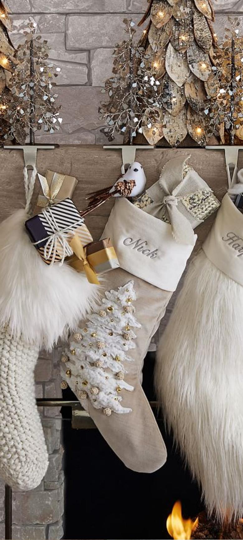 Alpine Luxe Christmas Stockings