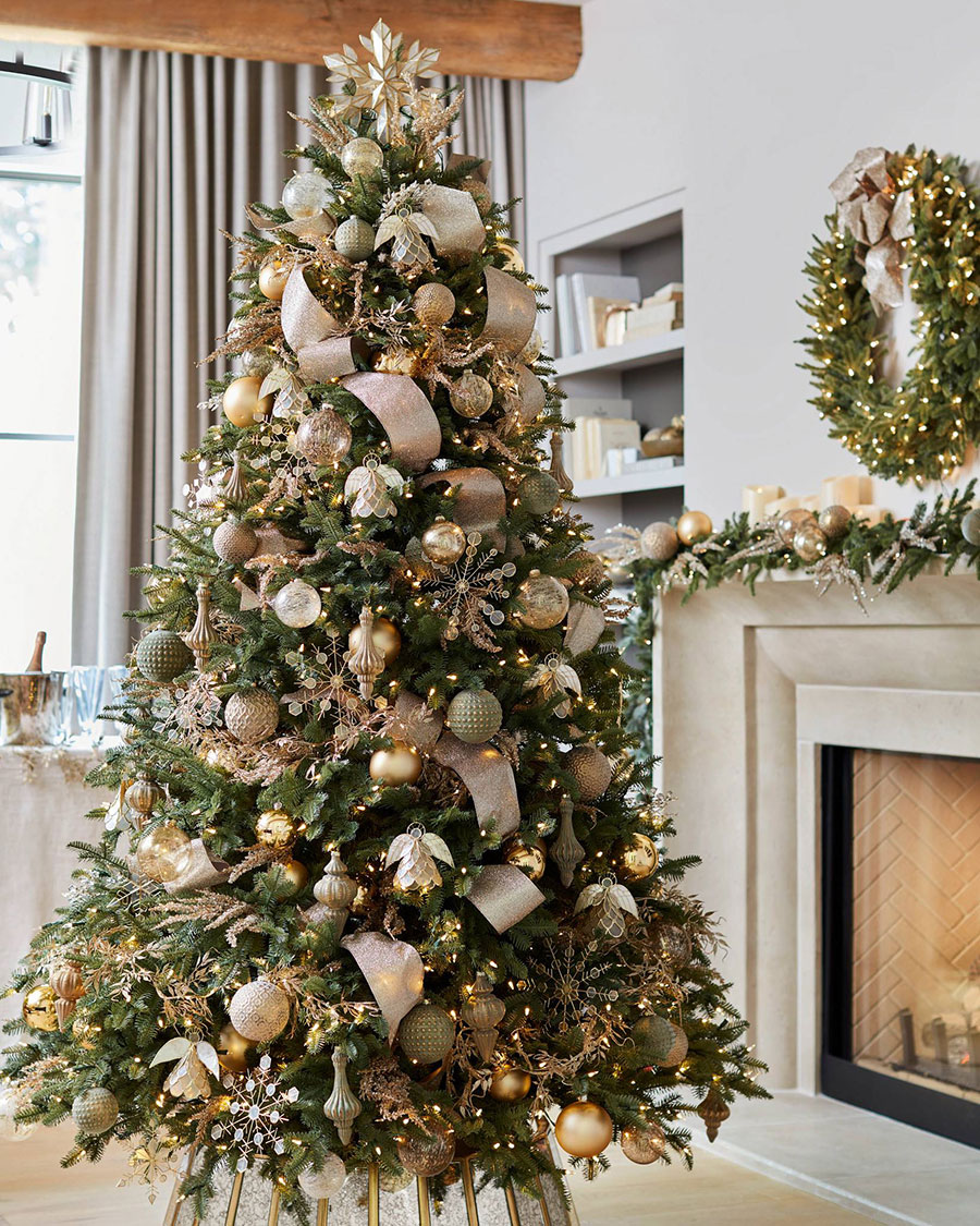Christmas Tree Ideas | Burnished Metal Christmas Tree