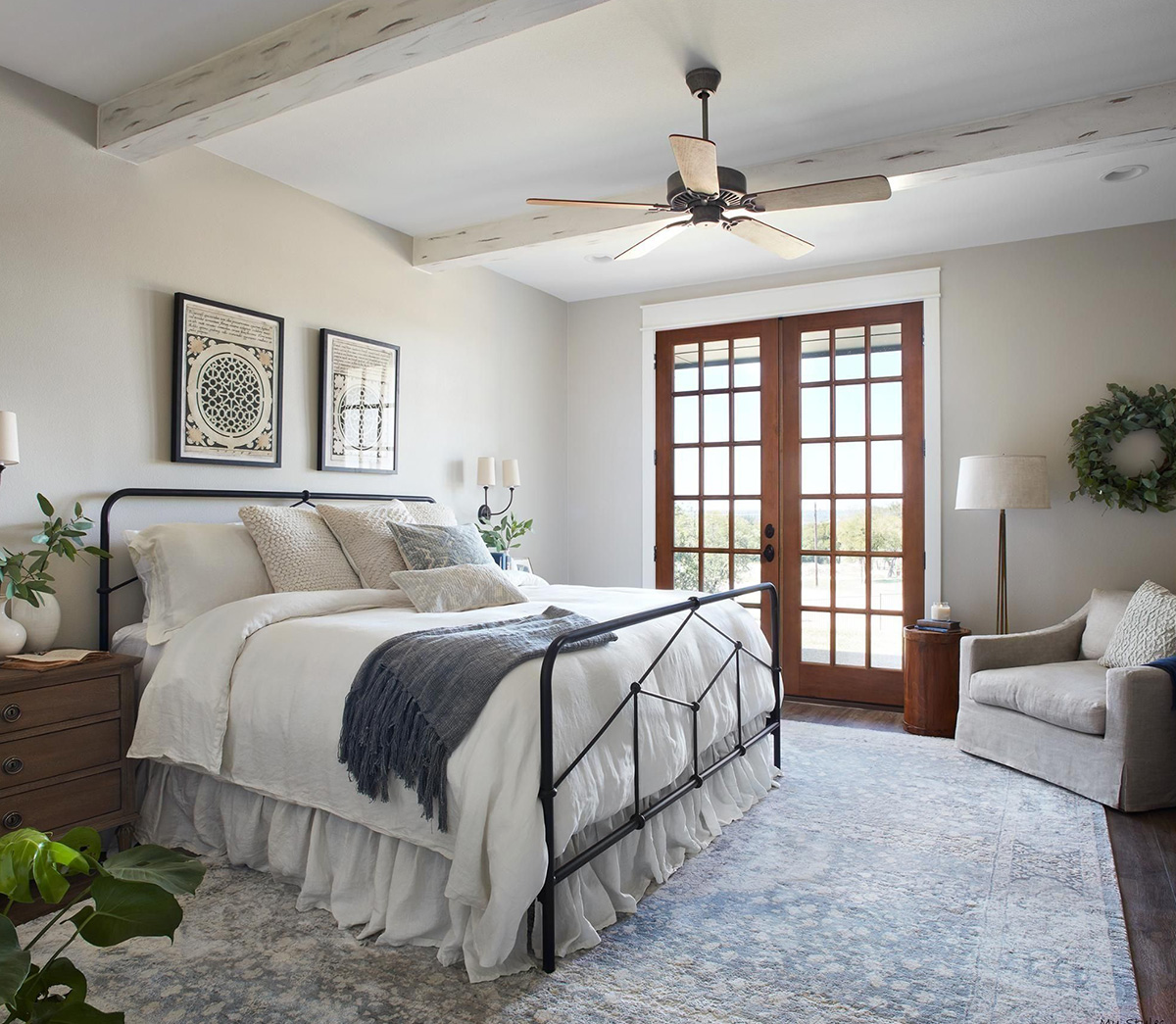 Farmhouse Bedroom by Joanna Gaines