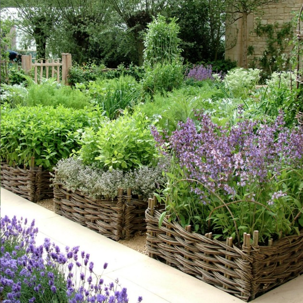 Baskets as Rustic Planters
