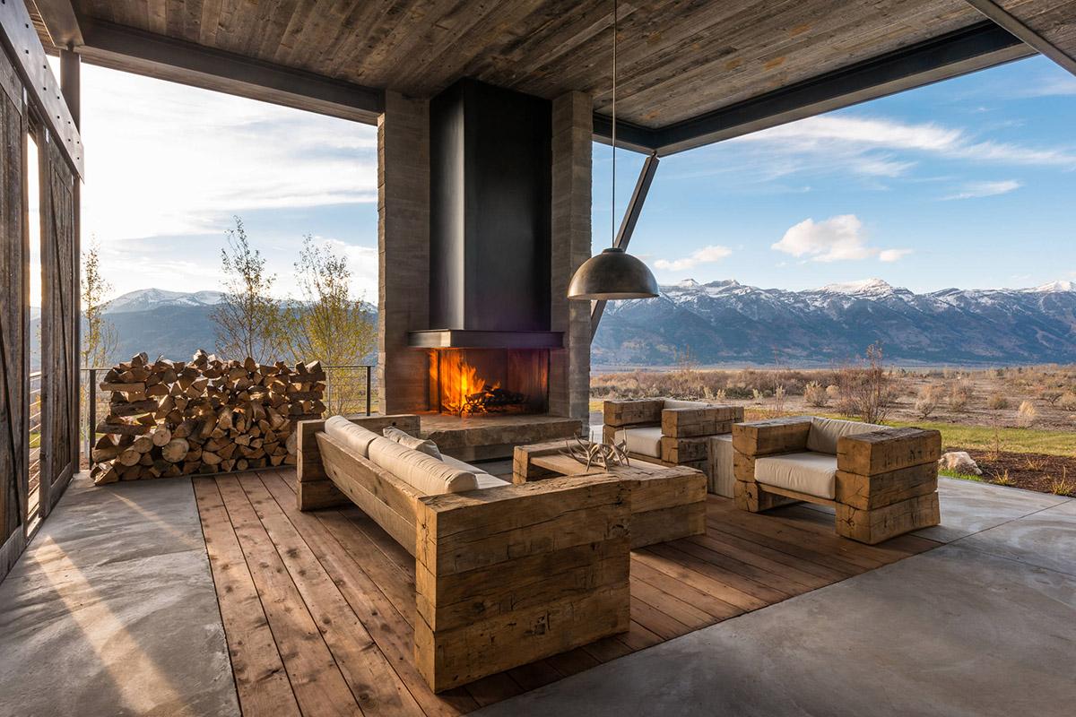 Log Home Backyard Ideas