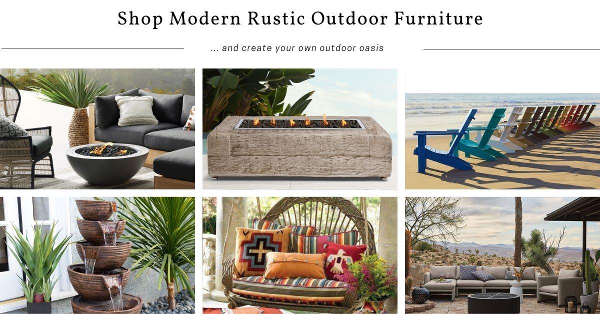 Shop Modern Rustic & Southwestern Outdoor Furniture
