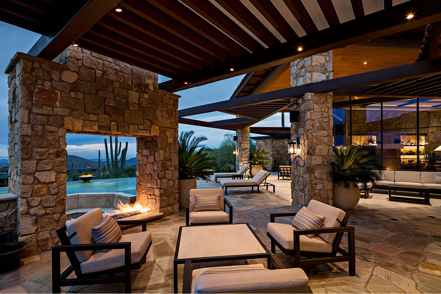 Southwest Patio with Desert Views