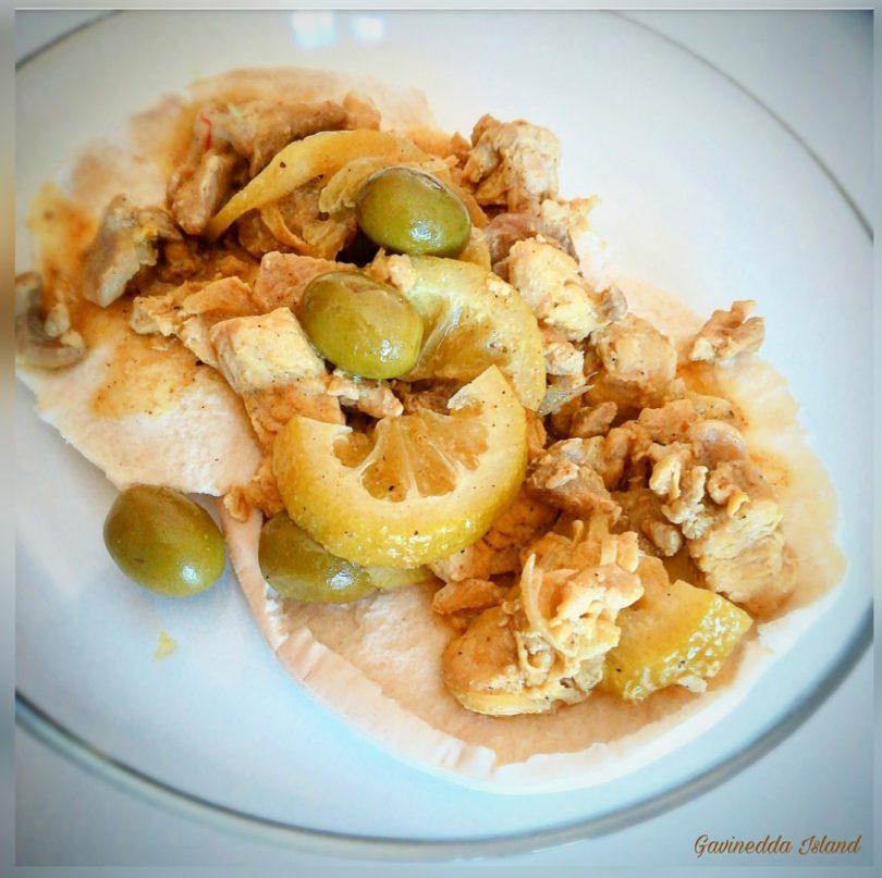 M'qalli tajine di pollo, limone e olive