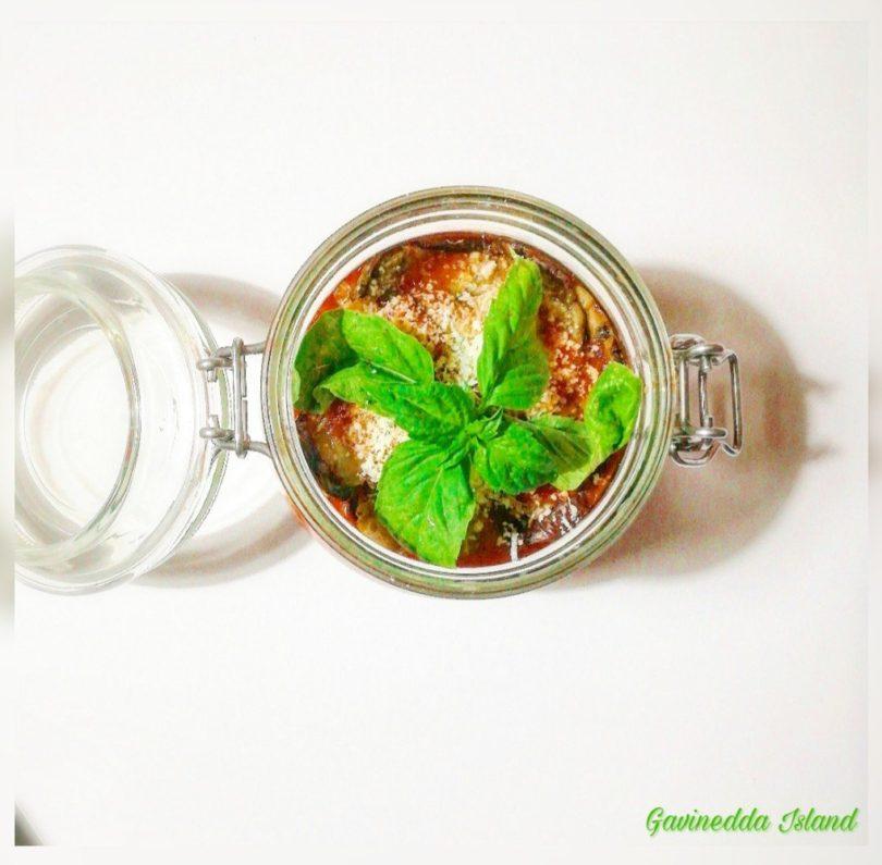 Melanzane alla parmigiana in vasocottura