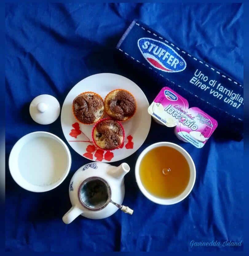Muffin yogurt, banana e cacao