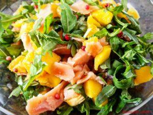 Insalata salmone, mango e rucola2